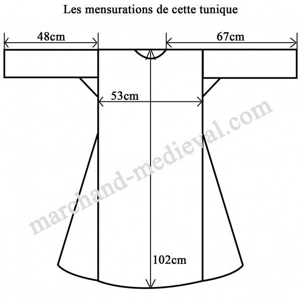Tunique Viking Simple Et Histo Tunique Viking Tunique Medievale Costume Medieval Homme