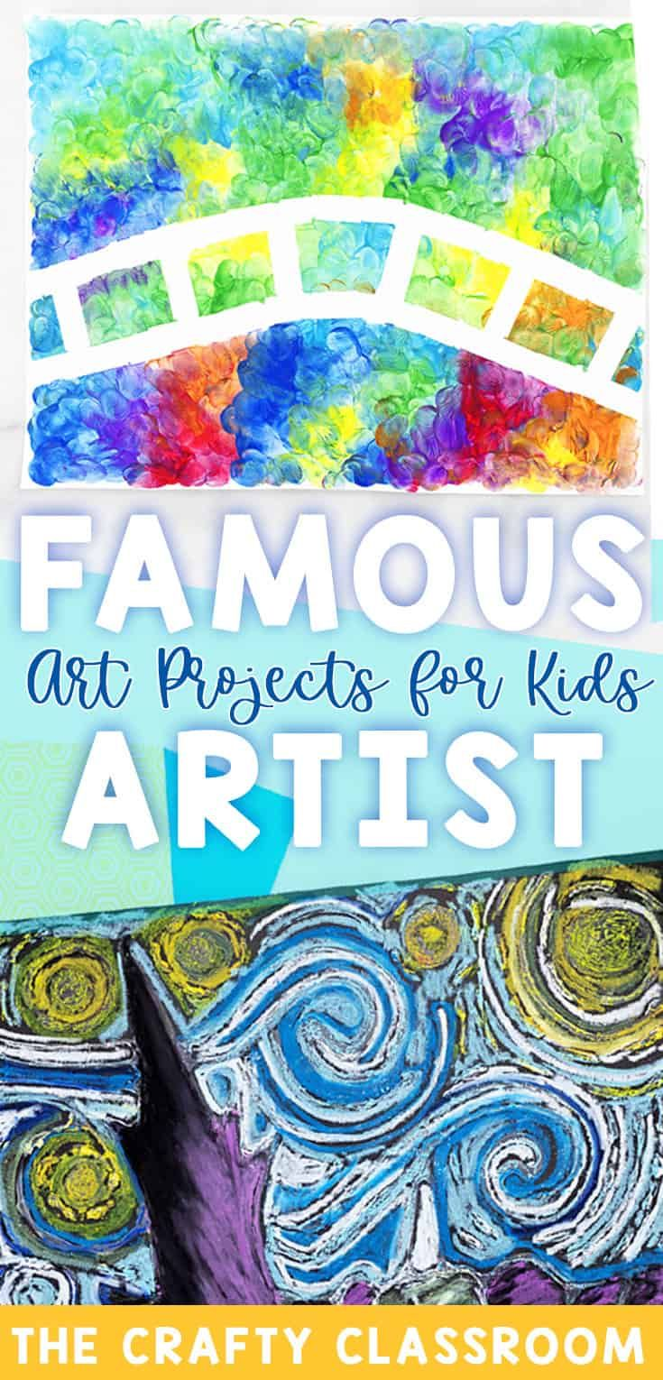 Photo of Famous Artists Crafts for Kids