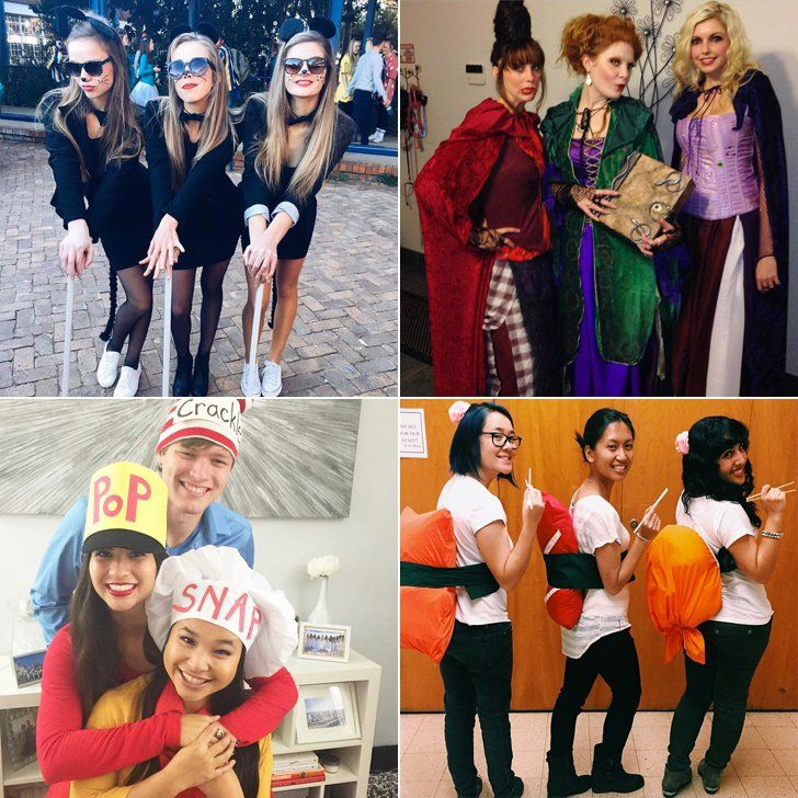 The best Halloween costumes for a group of three friends.  sc 1 st  Pinterest & 3 of a Kind: 21 Trio Costumes to Wear With Your Best Friends ...