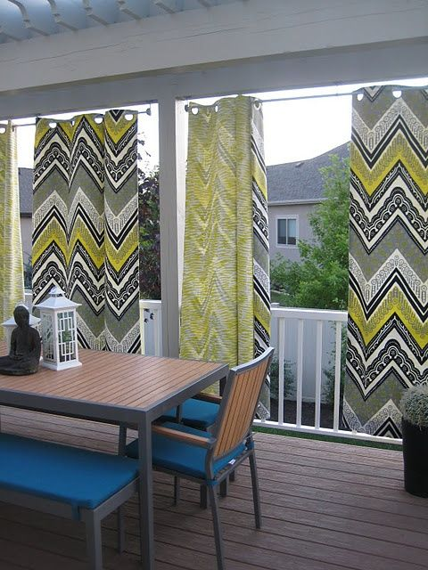 Use Shower Curtains Outdoors To Create Curtains On Porch Outdoor Curtains For Patio Patio Curtains Outdoor Curtains