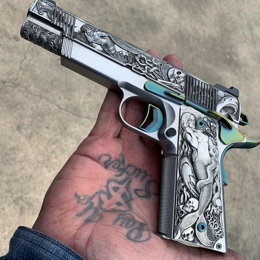 Jesse James On Instagram Some Times I Tend To Go A Little To Far With The Stuff We Build In The Case Of This Jjfu Merm Hand Guns Custom Guns Guns