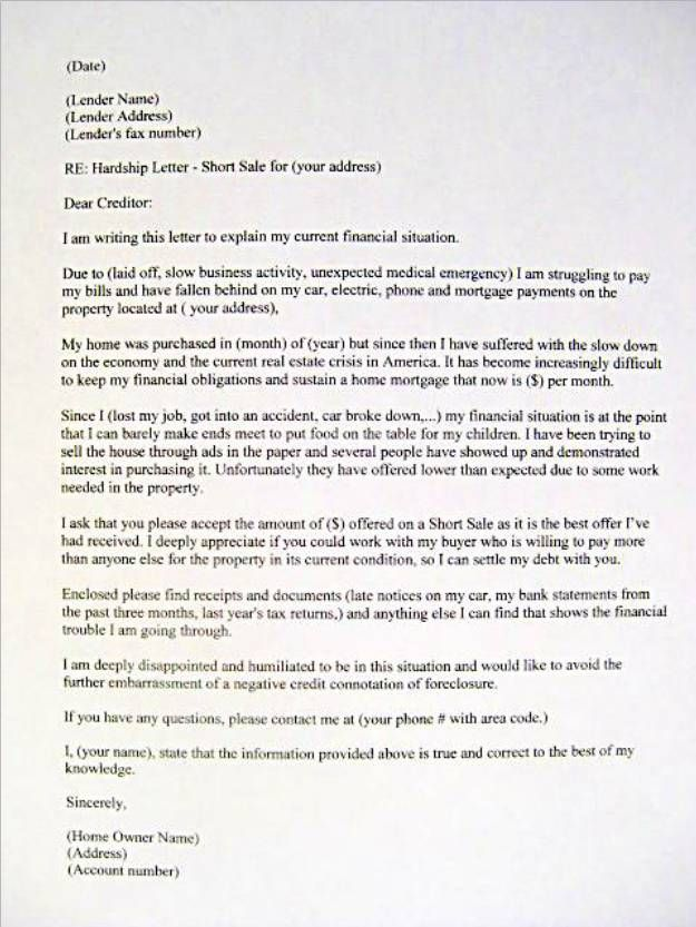 Hardship Letter Sample letter examples sample financial - new send letter to china format