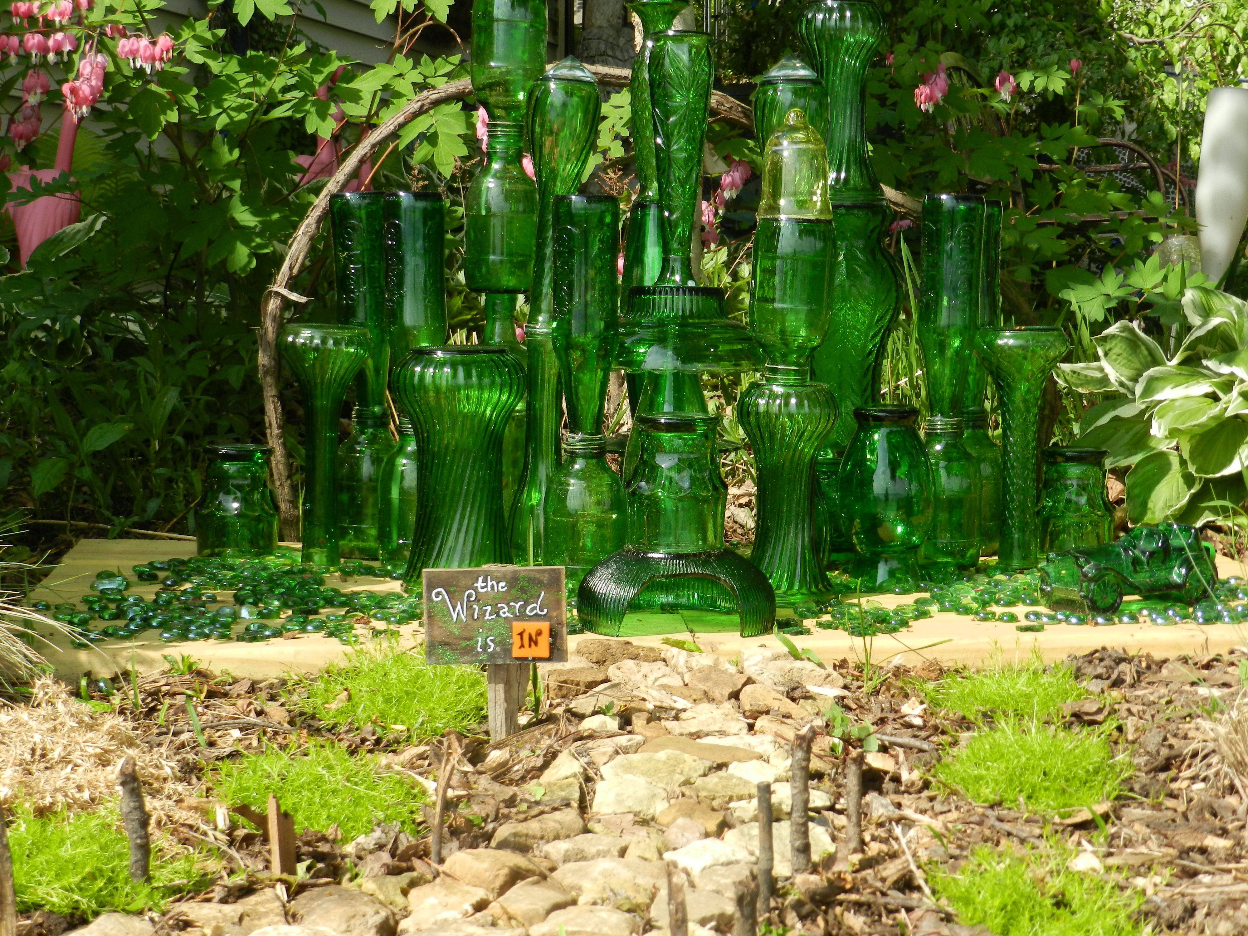 Gnome In Garden: Glass Emerald City -- The Wizard Is In! These Are Beer