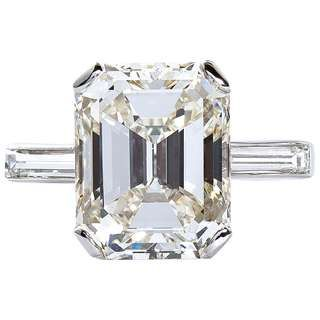 b734403e3ebe6 4.01 Carat Royal Asscher Cut Diamond Ring in Platinum, GIA Certified ...