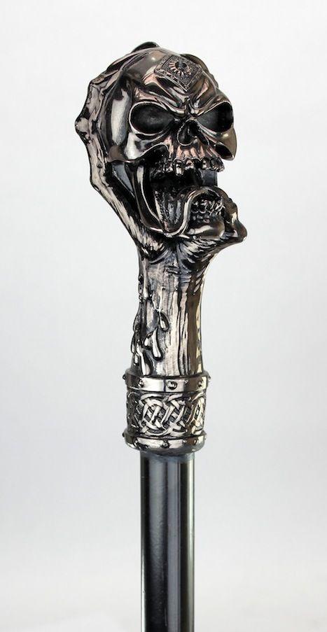 Halloween Skull Cane Walking Sticks Wooden Handmade Sale