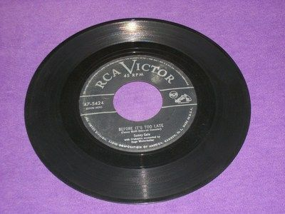"Sunny Gale Before It's Too Late - Love Me Again - Rare 7"" Vinyl 45 - RCA 47-5424"
