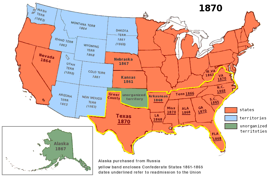 us territory 1870 | History Museum - USA 1800s | Pinterest ...