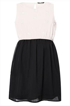 Black and white dress, would be a good choir outfit.