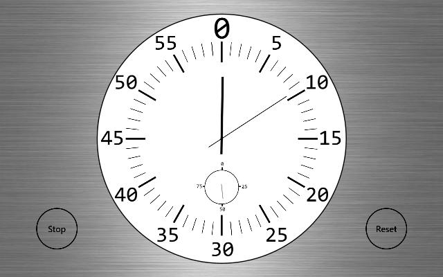 Clock Windows 8 App Watch Time in Calendar Stopwatch