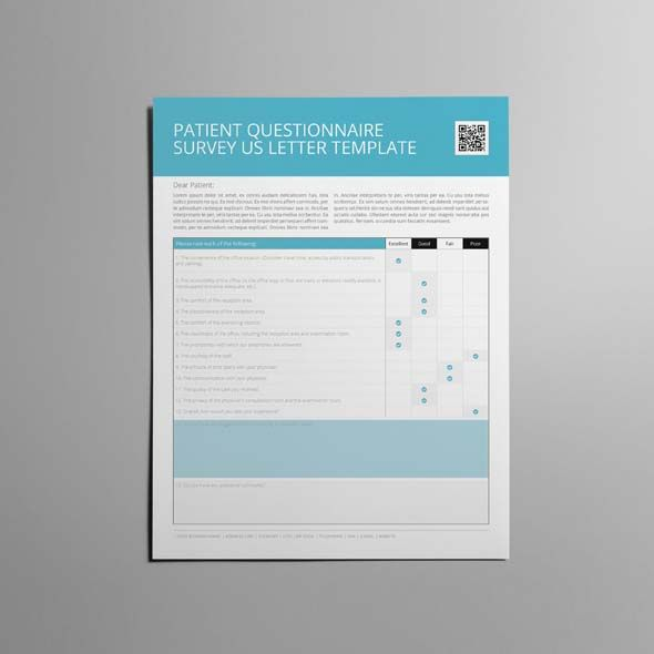 Patient Questionnaire Survey Us Letter Template Cmyk Print