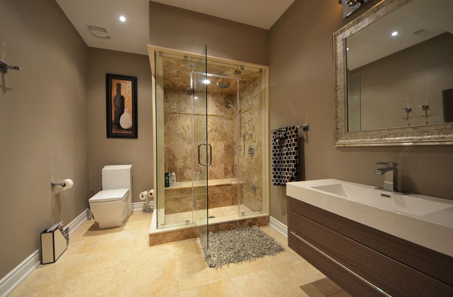 Interior Soothing Design Of Medium Sized Bathroom How To Make A Sauna In Your