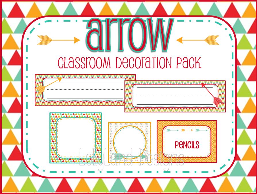 Arrow Classroom Decoration Pack- $55 www.etsy.com/shop/lollylanddesigns