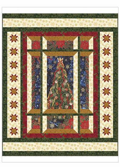 Modern Window Christmas Quilt Pattern