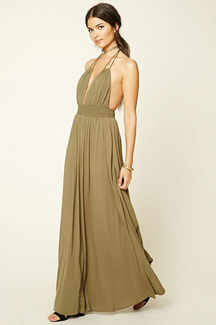 89a191b965 Product Name Contemporary Smocked Halter Maxi Dress