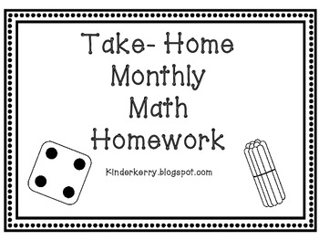 Kindergarten Math Homework - Laptuoso
