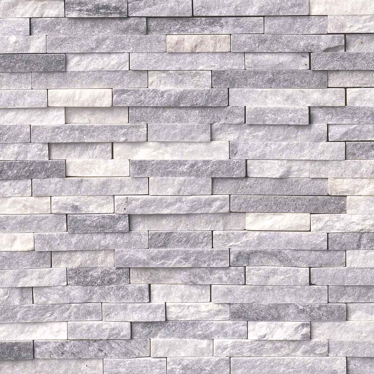 alaskan gray splitface interlocking pattern mosaics home decor