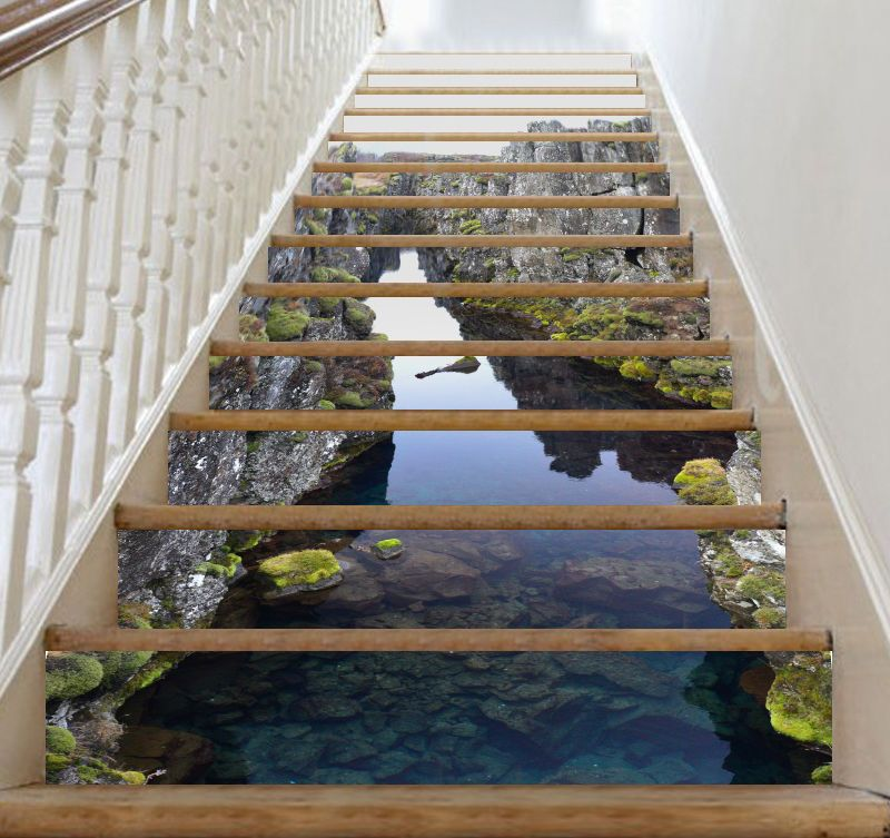 Details About 3d Calm Lake 186 Stair Risers Decoration