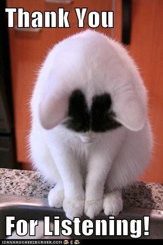 Cute Animal Thank You : animal, thank, Thank, Listening!, Listening,, Animals,