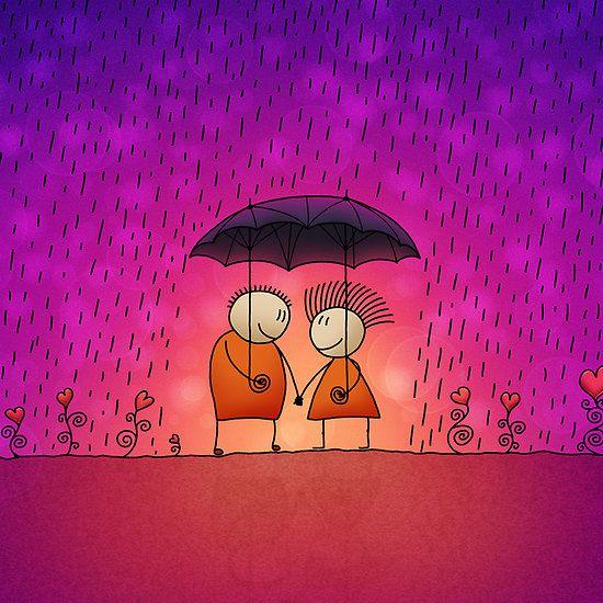 Inseparable art Friendship wallpaper, Romantic