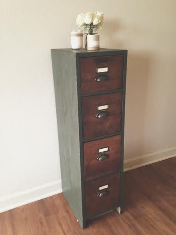 Gorgeous Antique, Oak, File Cabinet. Four Drawers, All Slide Open Very  Smoothly