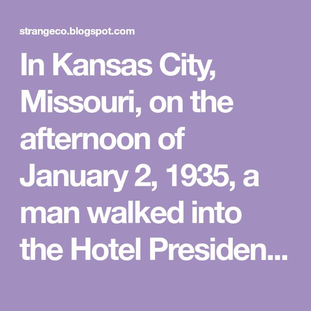 The Horror In Room 1046 Kansas City Missouri Kansas