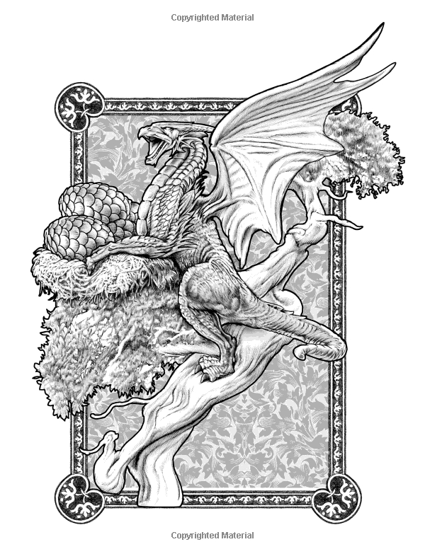 bennett klein coloring pages Colour My Sketchbook DRAGONS: Amazon.ca: Bennett Klein: Books  bennett klein coloring pages