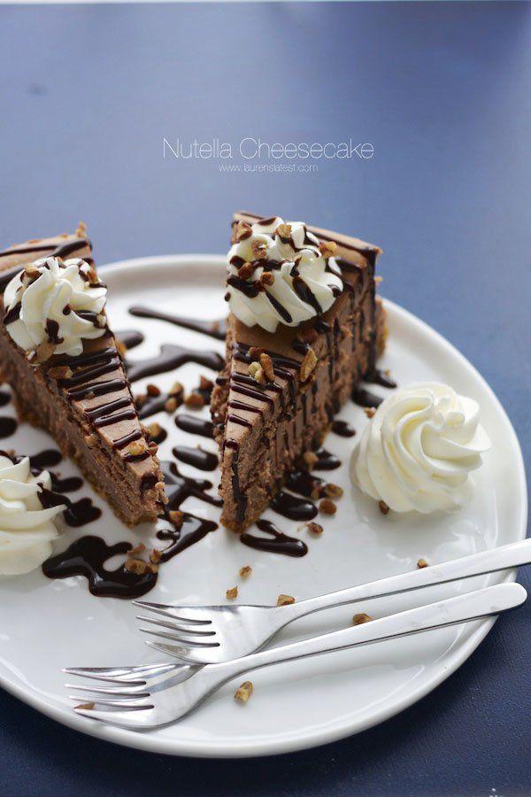 New York Style Nutella Cheesecake   Lauren's Latest