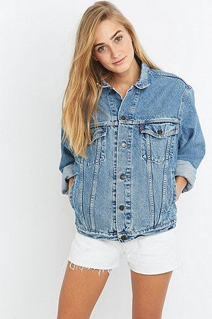 023029e3360a1 Urban Renewal Vintage Originals '90s Levis Blue Denim Jacket - Urban  Outfitters