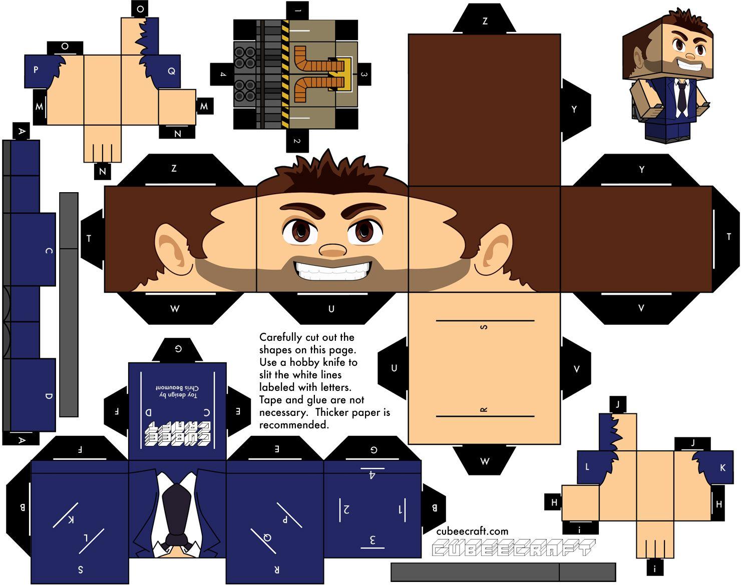 Barry From Jetpack Joyride Cubeecraft Albumes De Recortes Recortes