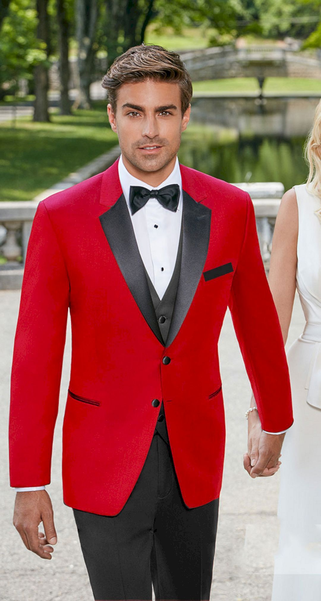 Red Black and White Wedding Tuxedo 116 Wedding suits men