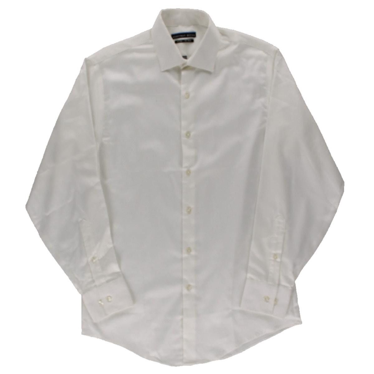 Geoffrey Beene Mens Knit Point Collar Polo Shirt