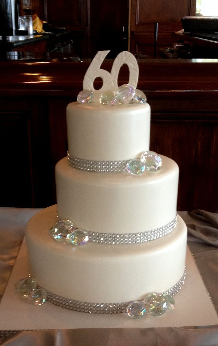 Anniversary Cake With Diamonds 60 Wedding Anniversary Cake 60th