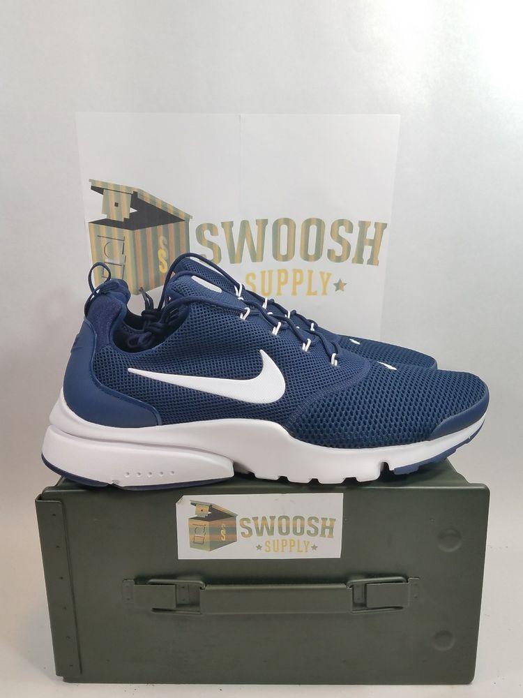 Nike Presto Fly 908019 400 Midnight Navy Blue Men's Running