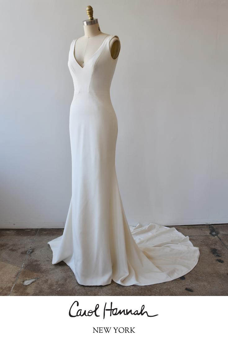 Minimal Modern Wedding Dress Silk Crepe Wedding Dress Wedding Dresses Designer Wedding Dresses [ 1102 x 735 Pixel ]