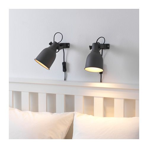Hektar Wall Clamp Spotlight With Led Bulb Dark Gray Clamp Spotlight And Bulbs