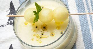 Receta de Sopa de melón avainillada