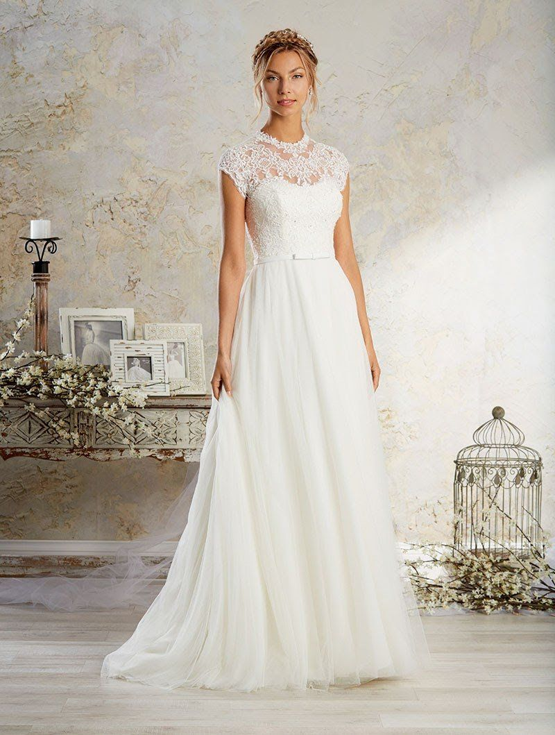 Alfred Angelo Modern Vintage Bridal Gown 8570 - Size 12 White ...