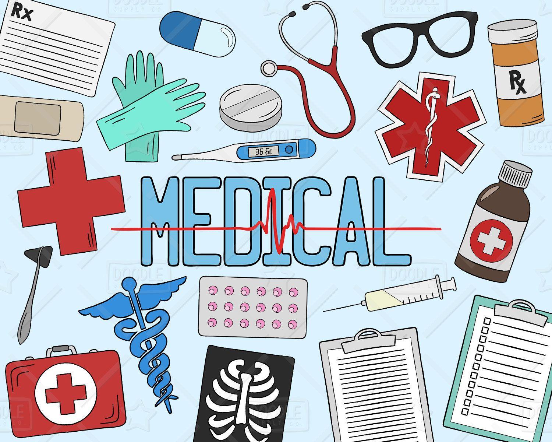 Health Clipart Vector Pack Medical Clipart Healthcare Clipart Hospital Clipart Doctors Clipart Medical Vectors Svg Png File In 2020 Medical Medical Drawings Clip Art