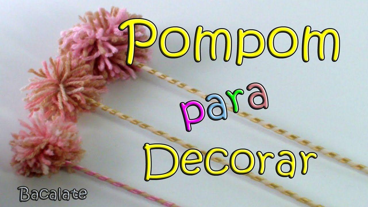 Como fazer Pompom no Palito p/ Festas, chá de panela - Artesanato DIY Ma...