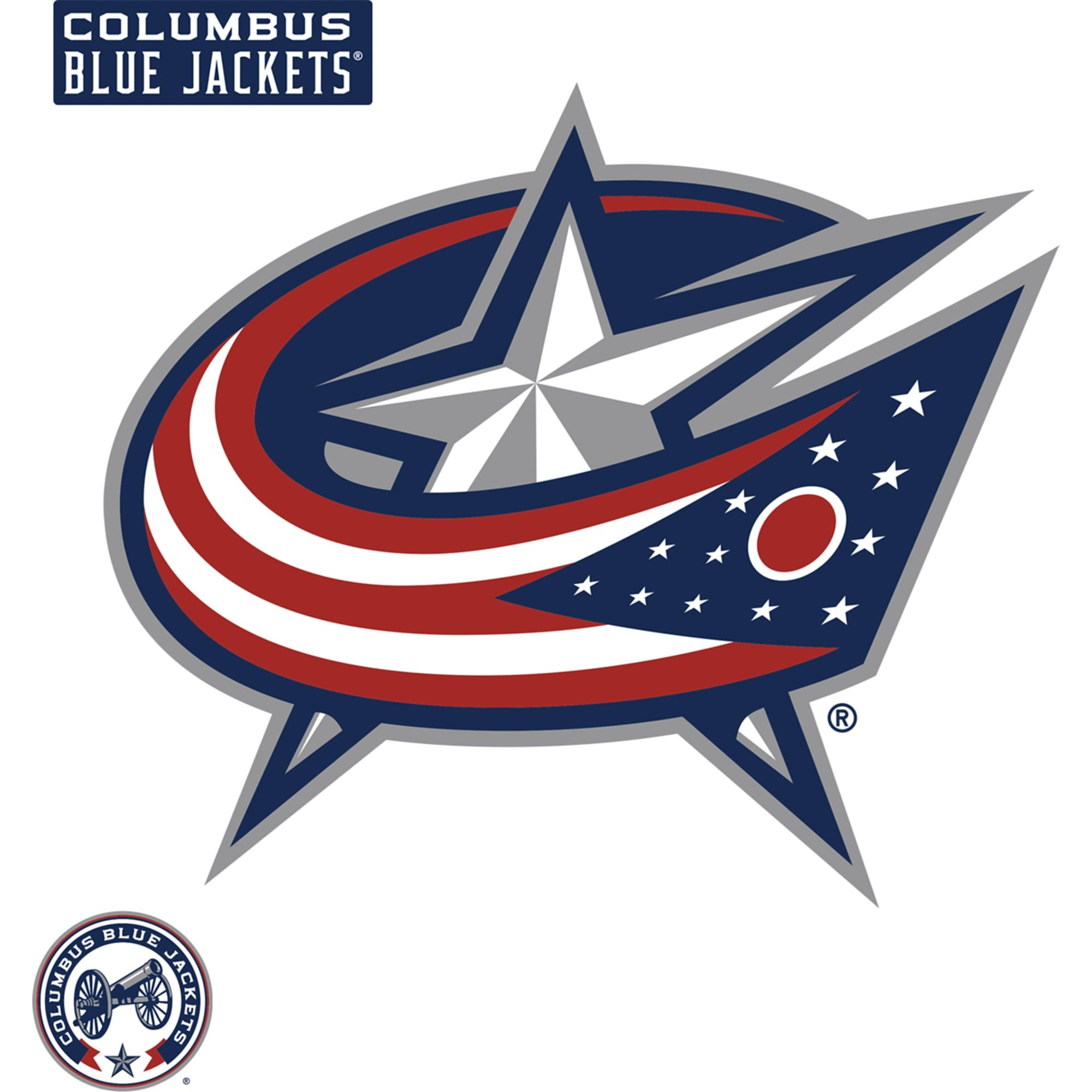 Columbus Blue Jackets Logo Large Officially Licensed Nhl Removable Wall Decal Columbus Blue Jackets Hockey Logos Logos