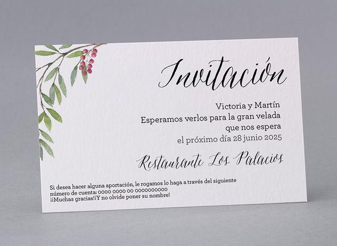 Tarjeta Para Número De Cuenta Mi38 009 Invitaciones De