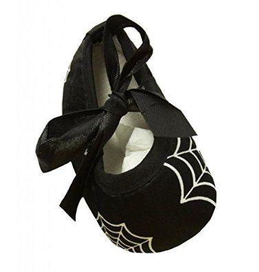 Amazon.com: Wholesale Princess Black with Spider Web Print Walker / Crib Shoes: Shoes