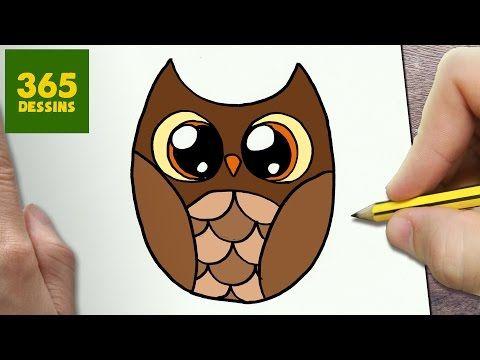 Comment dessiner chauve souris kawaii tape par tape - Dessin hibou facile ...