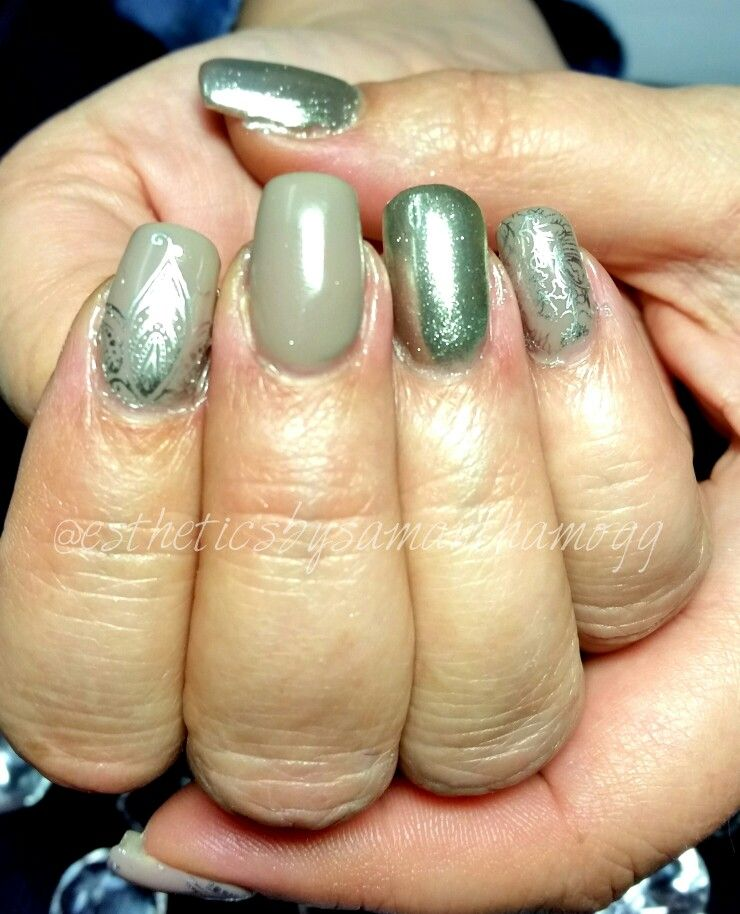 Light Elegance hard gels lexy line with Earl Grey colour gel and ...