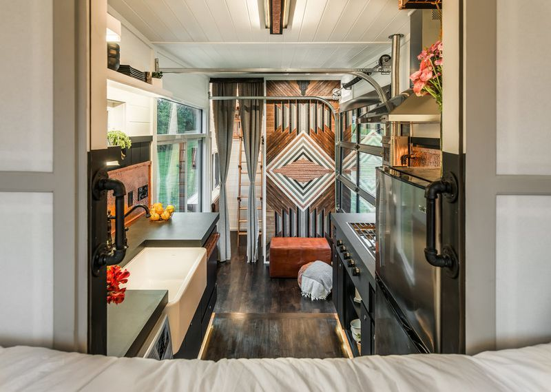 300 Square Foot Tiny House Raises The Bar For Luxury Small Living Tiny House Luxury Small House Design Alpha Tiny House