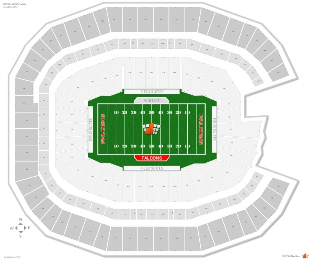 Falcons Stadium Seating Chart In 2020 Seating Charts Atlanta Falcons Stadium Mercedes Benz