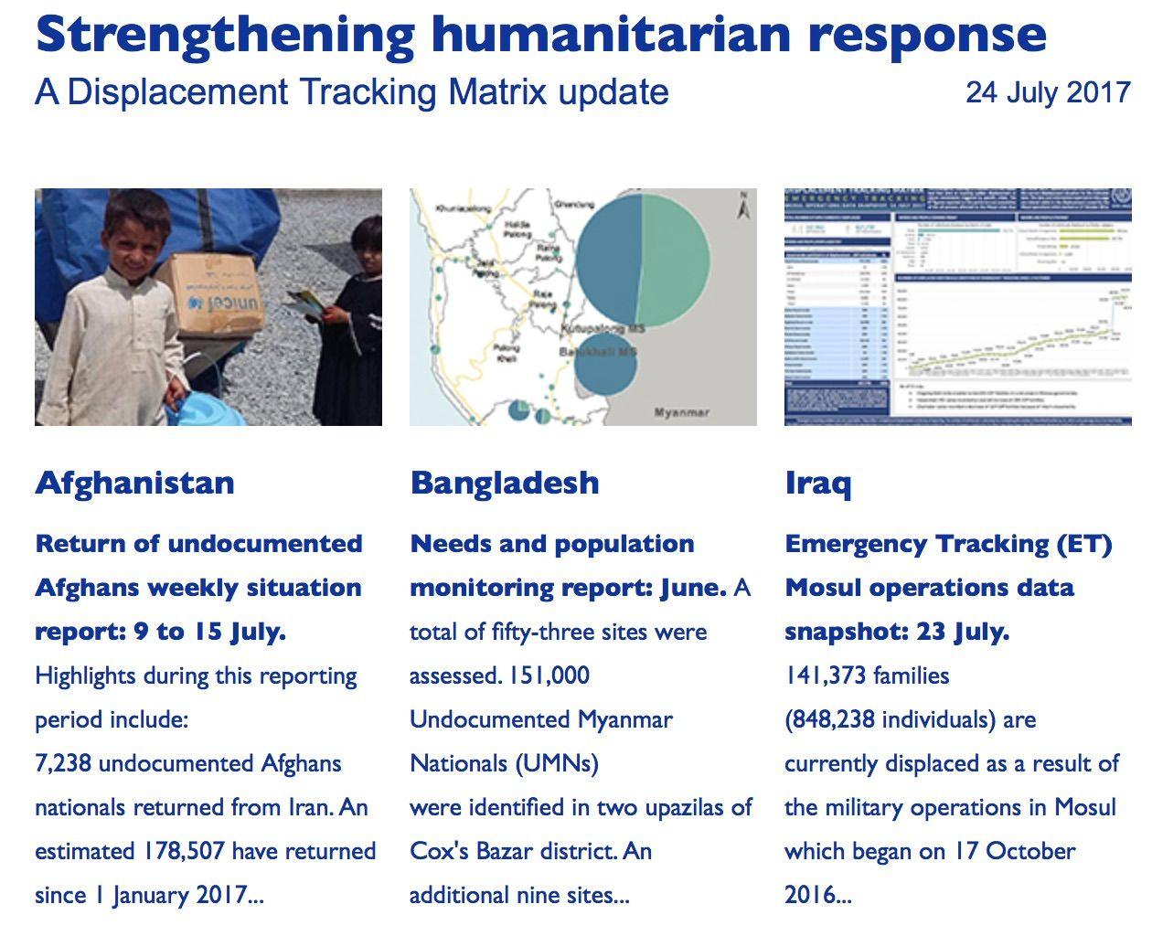 Strengthening humanitarian response: A Displacement Tracking