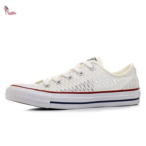 Converse Chucks 551541 All Star Crochet Blanc Blanc Blanc Noir, Converse Schuhe Damen Slim Sizegroup Leiste 7 5/B:40