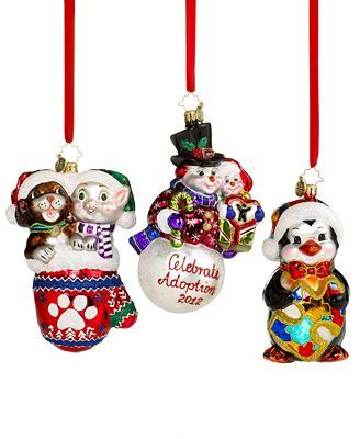 Christopher Radko Christmas Ornaments, Charity Collection - Christopher Radko Christmas Ornaments, Charity Collection