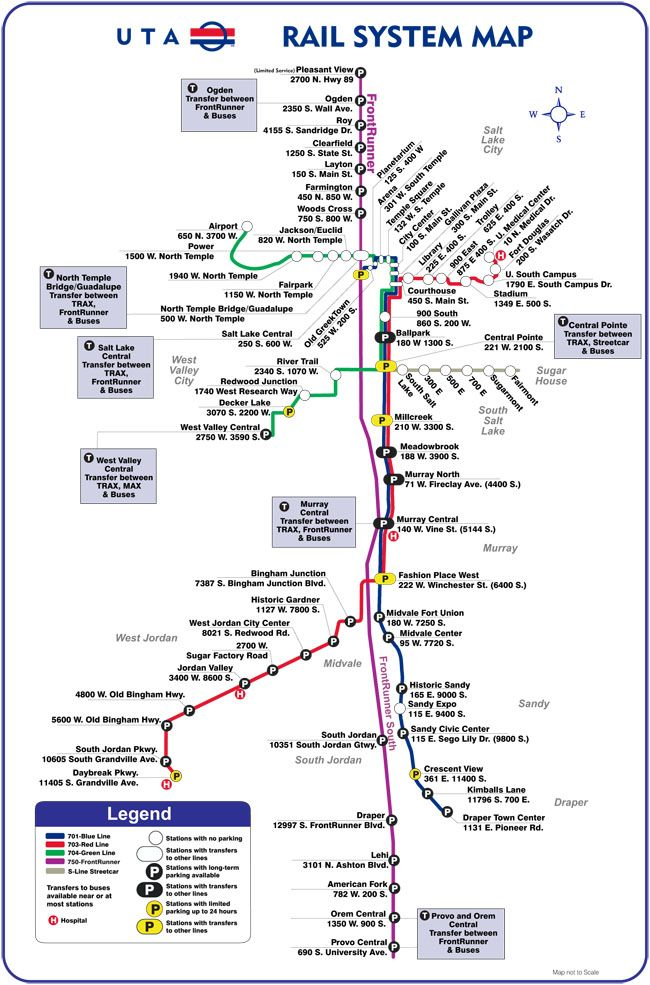 Getting Around Salt Lake City Salt Lake City System Map City
